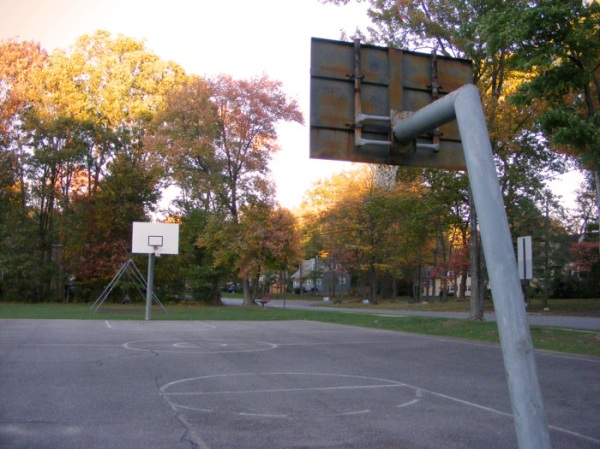 Basketball hoops: an epic standoff.
