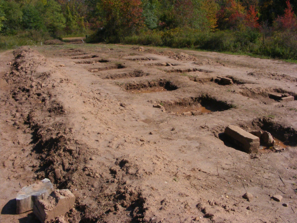 An Archeological Dig Site! or just some square holes