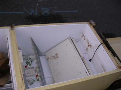 Dead fridge in Monmouth County... complete with yogurt!