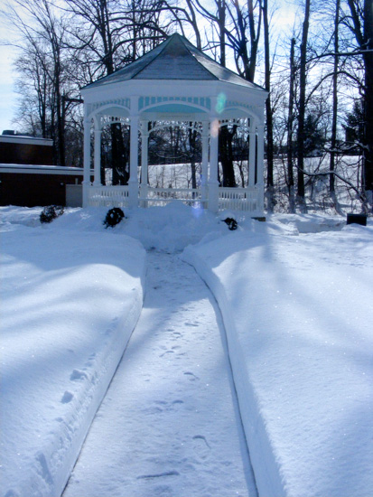 And lo, the Snow Queen would go and sit in her Snow Gazebo, and look upon all the snow, and revel in its snowiness.