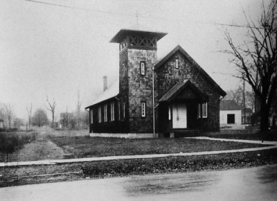 Our Lady of Peace, original building, New Providence, 1919-1955
