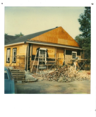 Fanwood Memorial Library, 1980, under construction