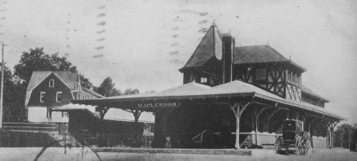 Maplewood station, c. 1904