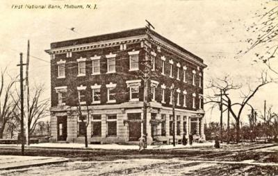Millburn First National Bank, 1910