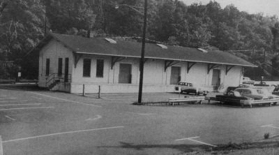 DL&W Millburn freight station, c. 1940-1950? If you're a car expert, check out the cars—what do you think?
