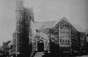 The new stone church, c. 1920s?