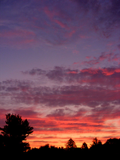 Sunrise! From my window.