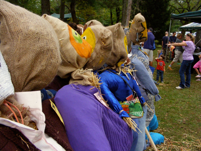 Scarecrow contest at the Harvest Festival