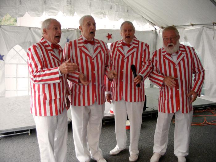 A barbershop quartet!