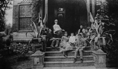 Nast family, Morristown, NJ, 1884. I think Thomas Nast is the bearded guy on the far left.