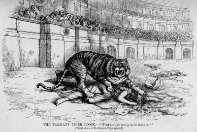 Tammany Tiger, pub. 1871, Thomas Nast