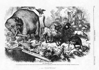 """The Third-Term Panic,"" pub. 1874, Thomas Nast"