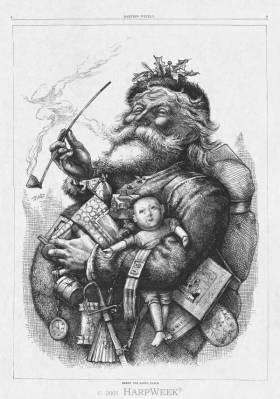 Santa Claus, pub. 1881, Thomas Nast