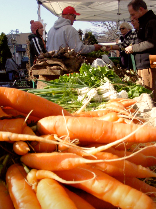 Summit Farmer's Market! and carrots.