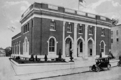 Morristown post office, c.1920