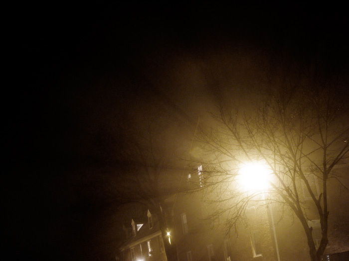 On a foggy night...