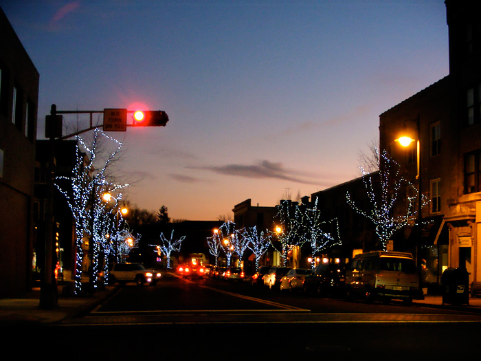 Downtown lights in Summit!