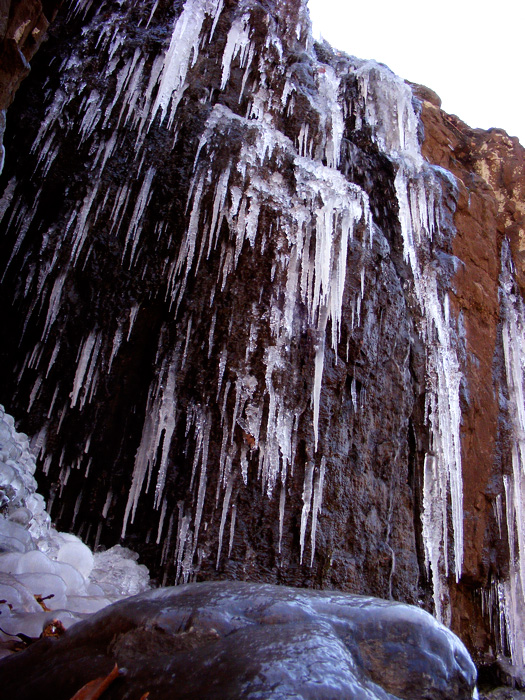 Icicle falls!