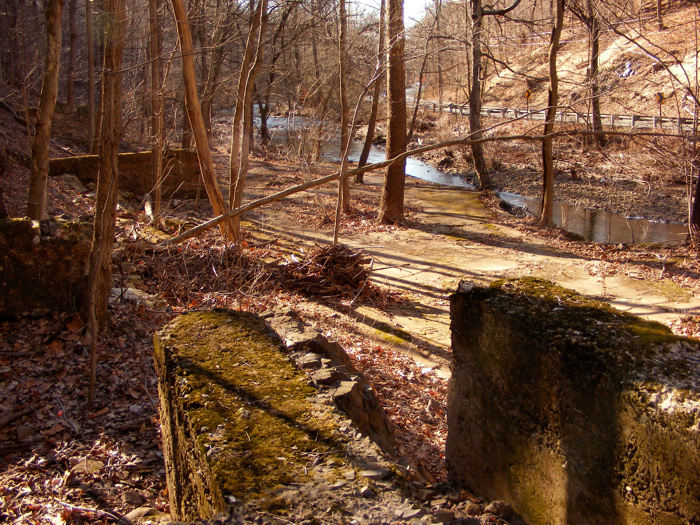 The ruined foundations of Seeley's Mill