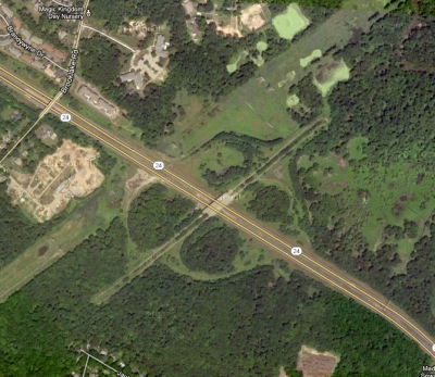 Triborough Road unfinished cloverleaf exchange over Rte. 24, Chatham and Florham Park, NJ