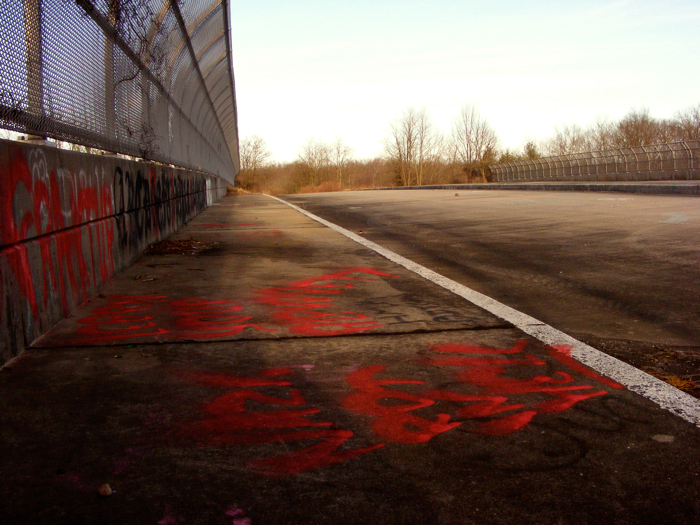 Abandoned Triborough Road overpass, NJ 24, Chatham and Florham Park, NJ
