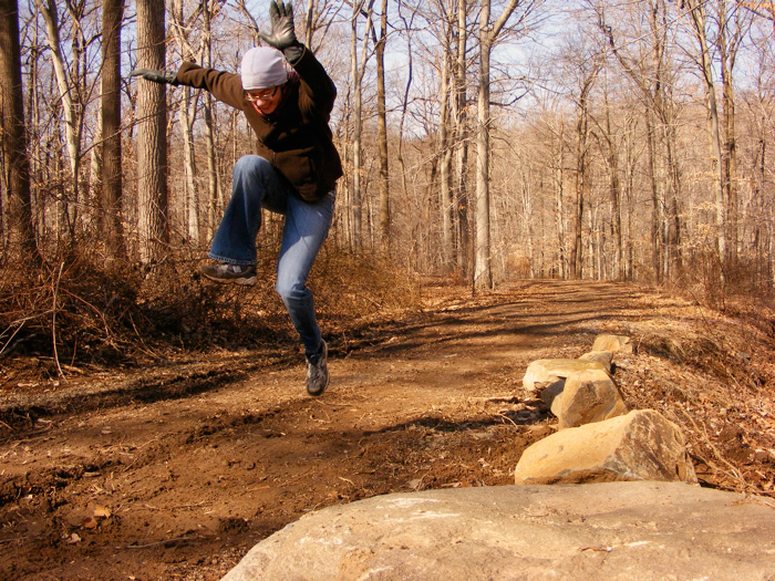 Leaping!