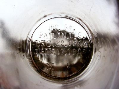 Glass mark: No. 65. / Pat.in.U.S. / Dec.22.1903 / July.17.1908