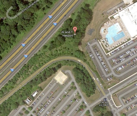 Map of Berkeley Heights, NJ AT&T heliport