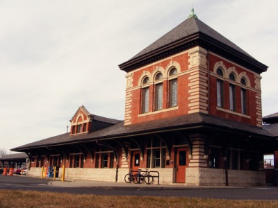 The more historic-looking part of the Plainfield train station