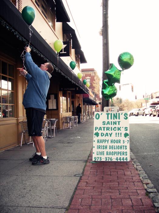 Preparing for St. Patrick's Day at Martini's in Millburn