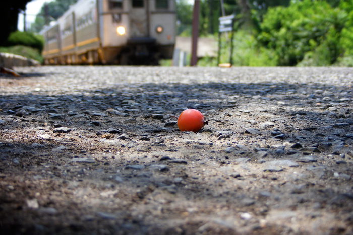 Just an apple. And a train.