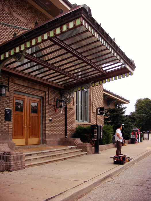 that sure is the front of the Morristown train station