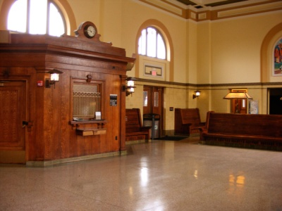 Inside the Morristown train station, 2012