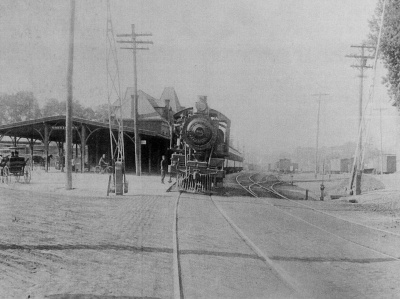 Morristown railroad station, 1895. From Williams 1996, 102