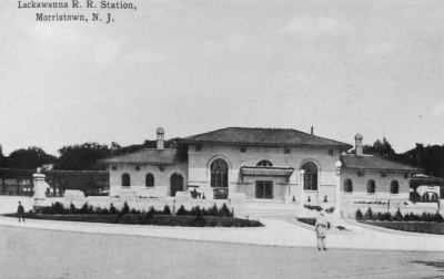 Current Morristown station, c.1920. From Williams 1996, 107.