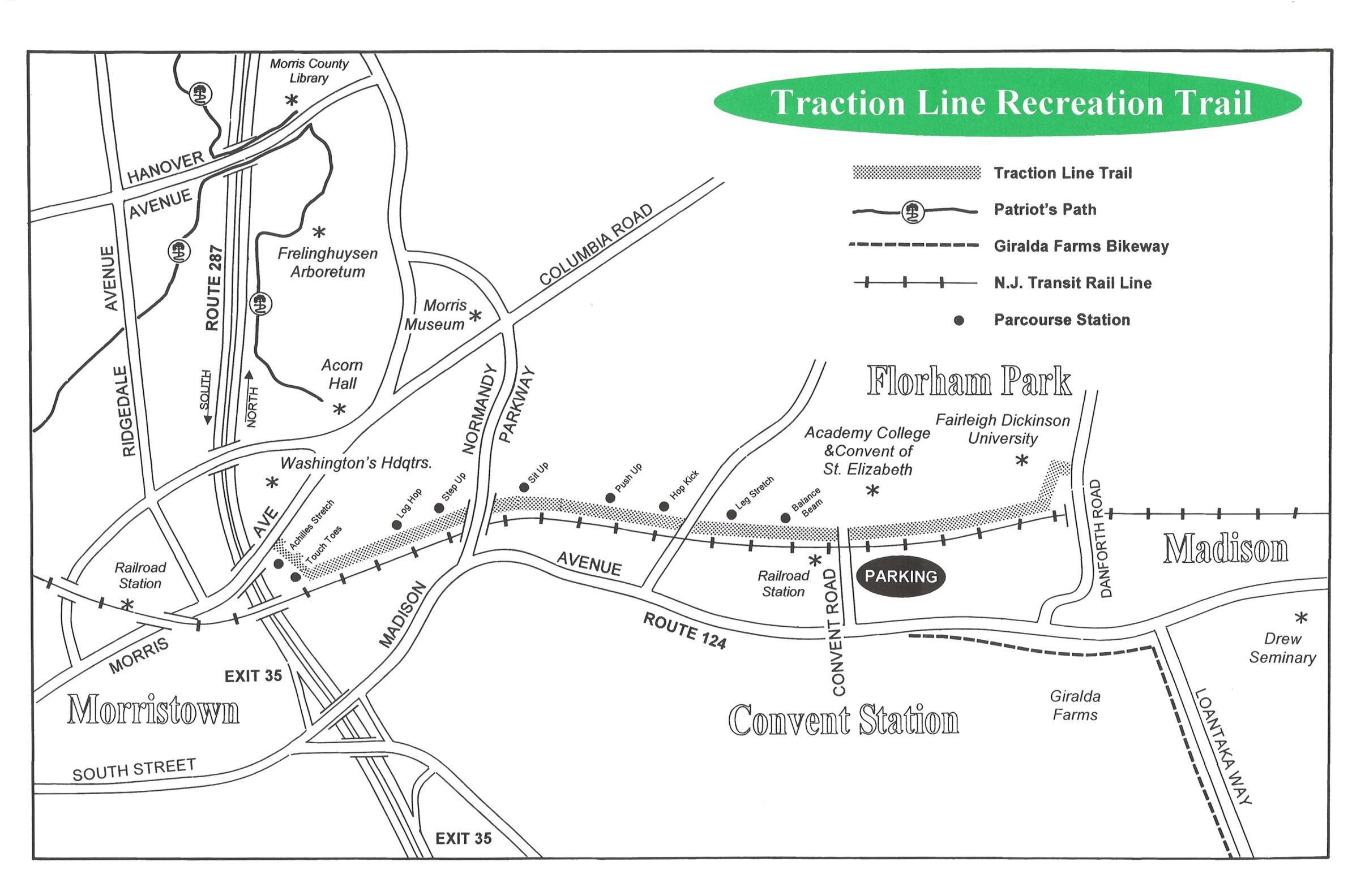 morris township new providence daily photo Loantaka Park Trail Map traction line map, via morrisparks net loantaka park trail map