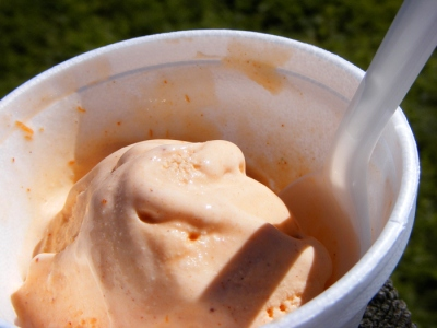 Zita's homemade pumpkin ice cream!