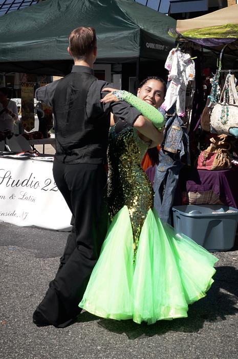 Studio 22 ballroom dancers at the Millburn Street Fair!