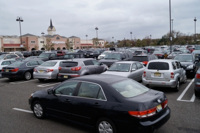 The parking lot is NEVER this crowded!