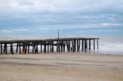 Ocean Grove fishing pier: Not still there on Wednesday evening