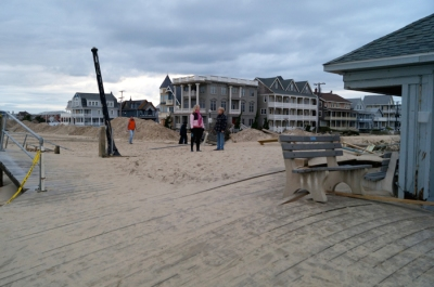 October 31, 2012: Near the Ocean Grove beach offices immediately after Sandy