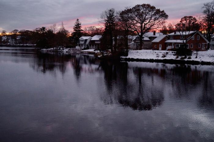 West Allenhurst, NJ across Deal Lake
