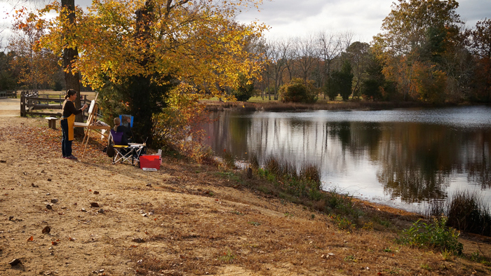 Painters at Batsto Lake (10/26/12)