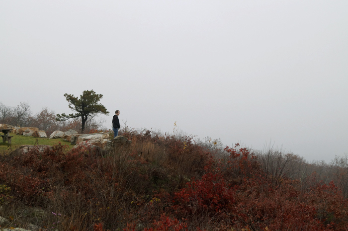 SCENERY FAIL: High Point enshrouded in fog