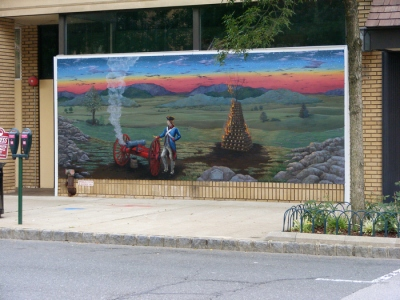 Mural of beacon in downtown Summit