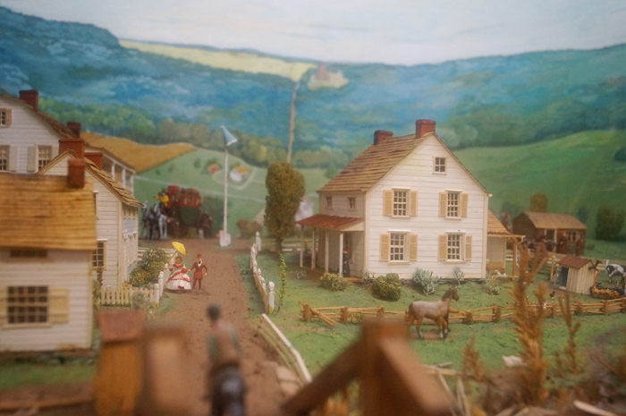 """Diorama of the Revolutionary Period: 1780-1782."" (Summit/Millburn border, east of the Passaic River)"
