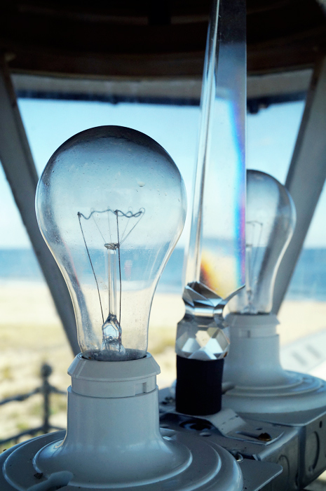 Light bulbs in the Sea Girt lighthouse