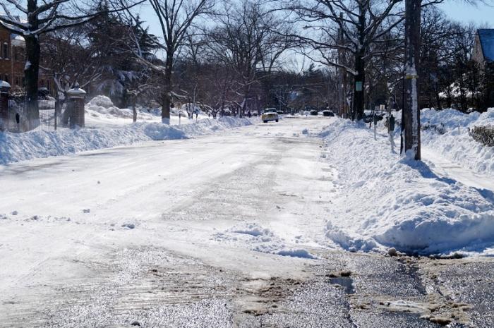 Snowy streets, bleah.
