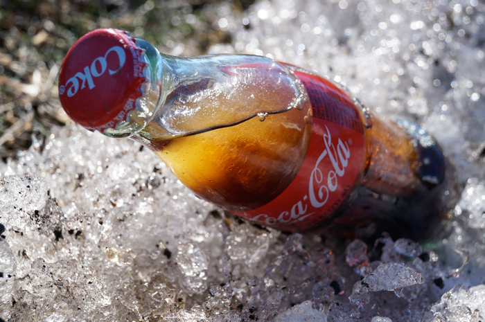 Frozen Coca-Cola