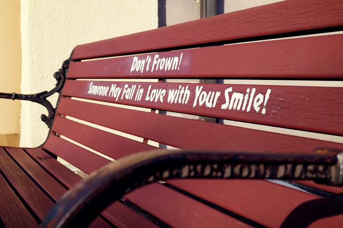 Don't frown! Someone may fall in love with your smile!
